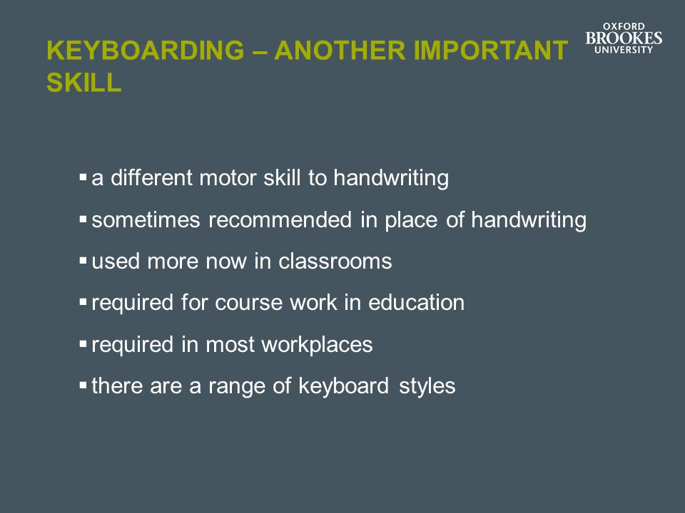 Keyboarding – another important skill