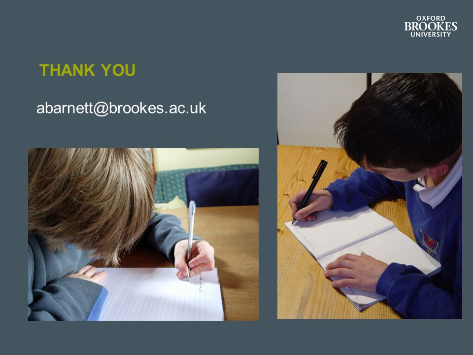 Thank you abarnett@brookes.ac.uk