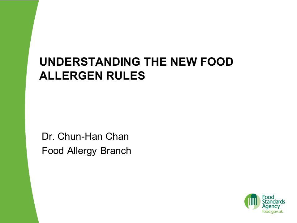 Understanding the new food allergen rules