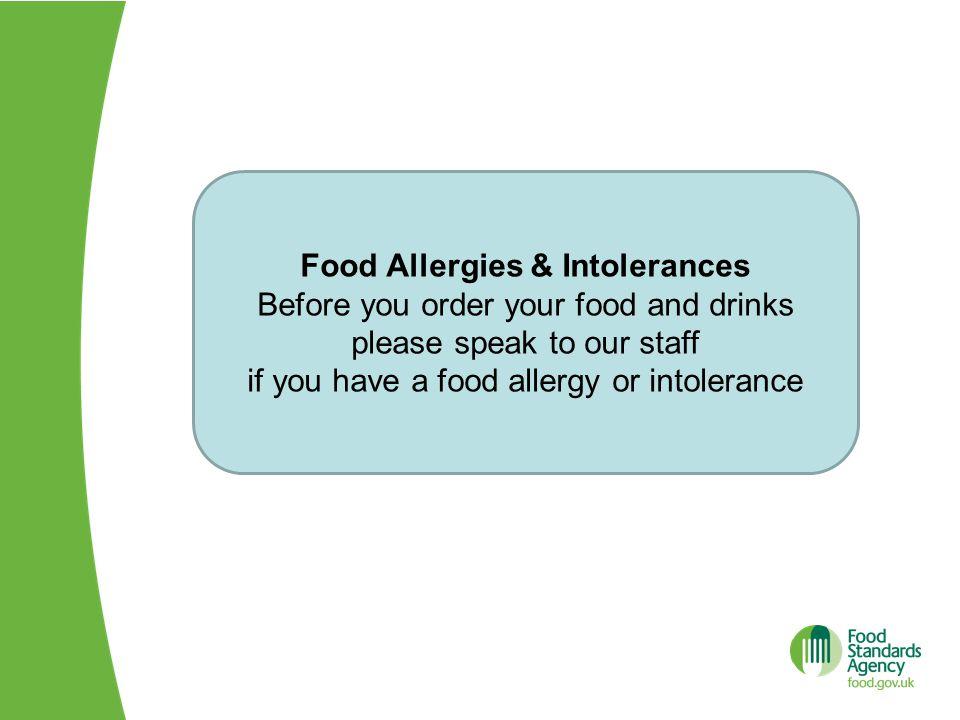 Food Allergies & Intolerances