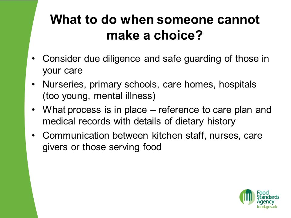 What to do when someone cannot make a choice