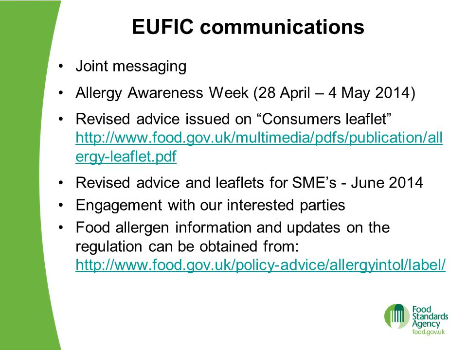 EUFIC communications Joint messaging