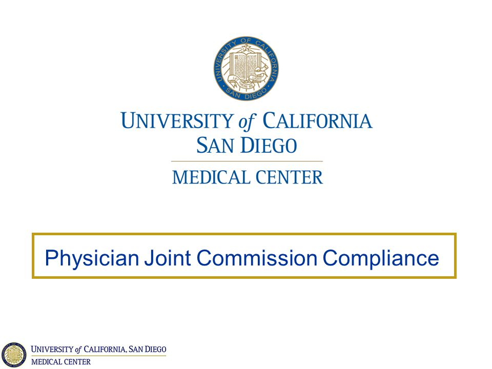Physician Joint Commission Compliance