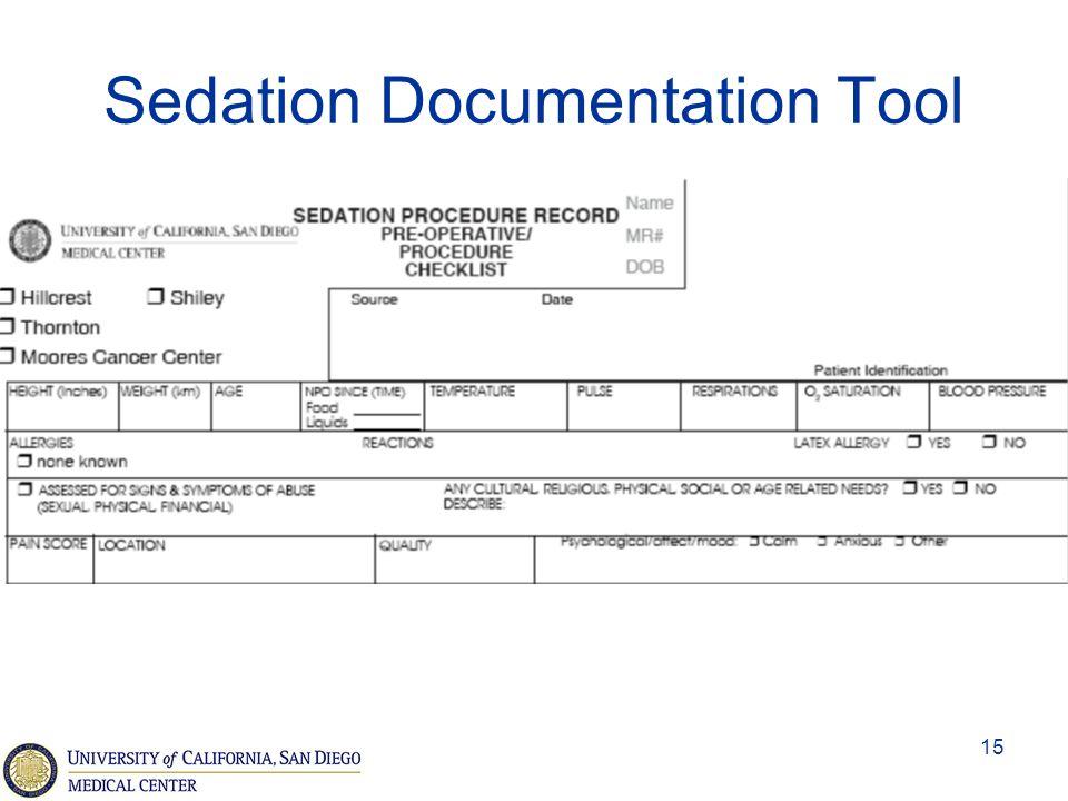 Sedation Documentation Tool