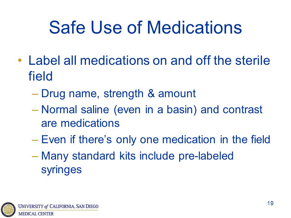 Safe Use of Medications