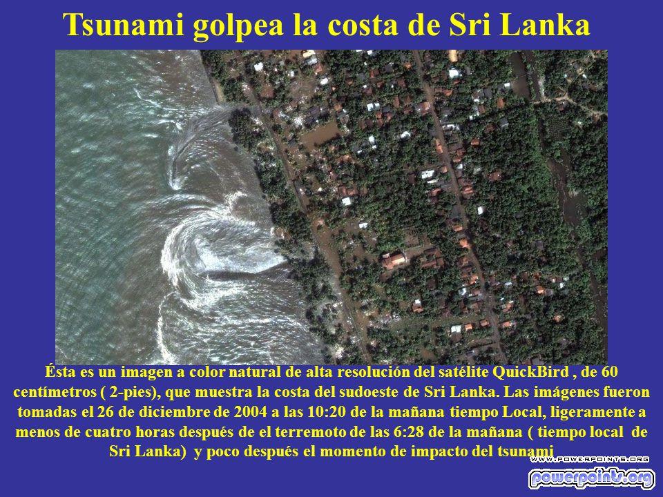 Tsunami golpea la costa de Sri Lanka