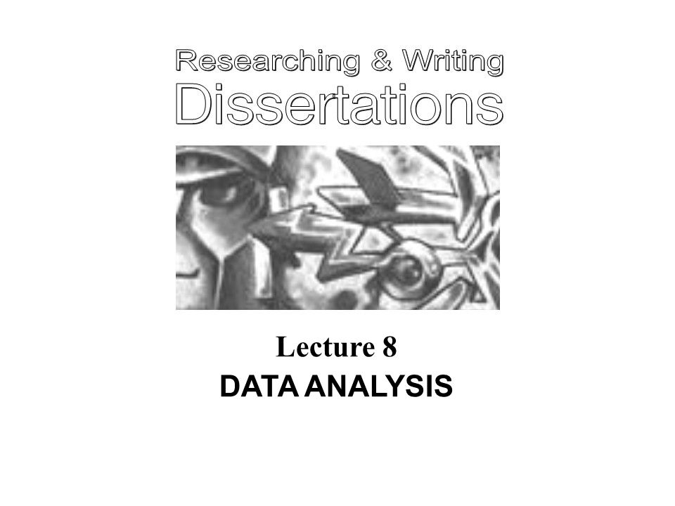 Lecture 8 DATA ANALYSIS