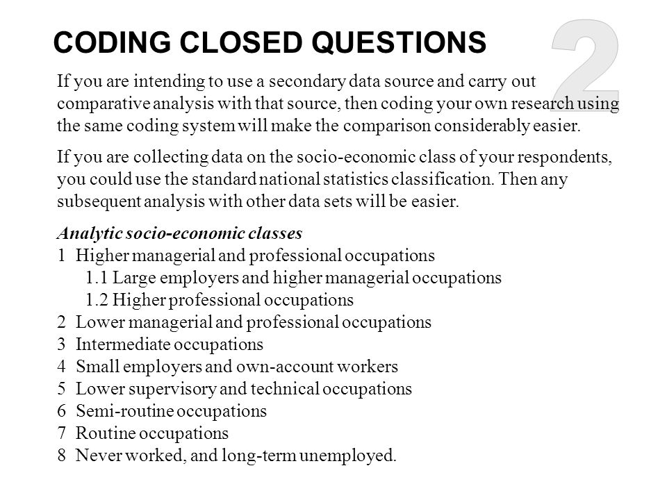 2 CODING CLOSED QUESTIONS