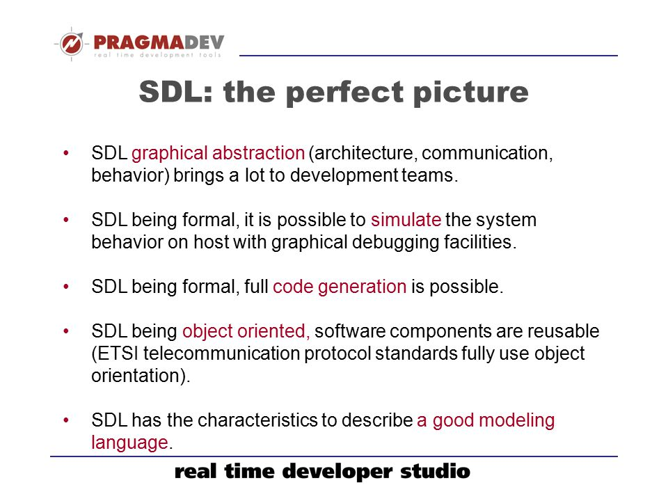 SDL: the perfect picture