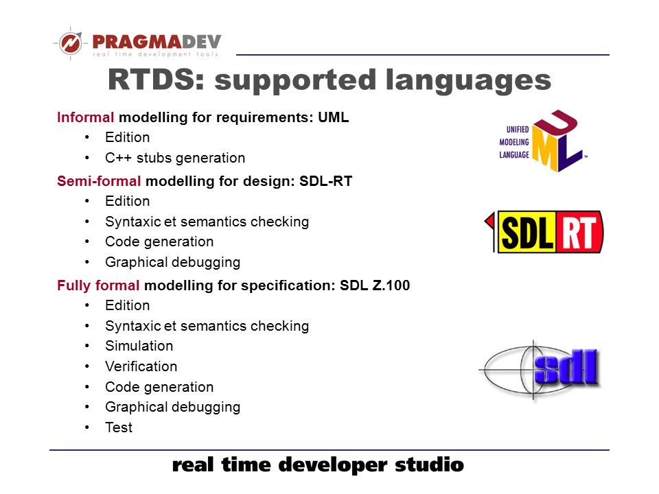 RTDS: supported languages