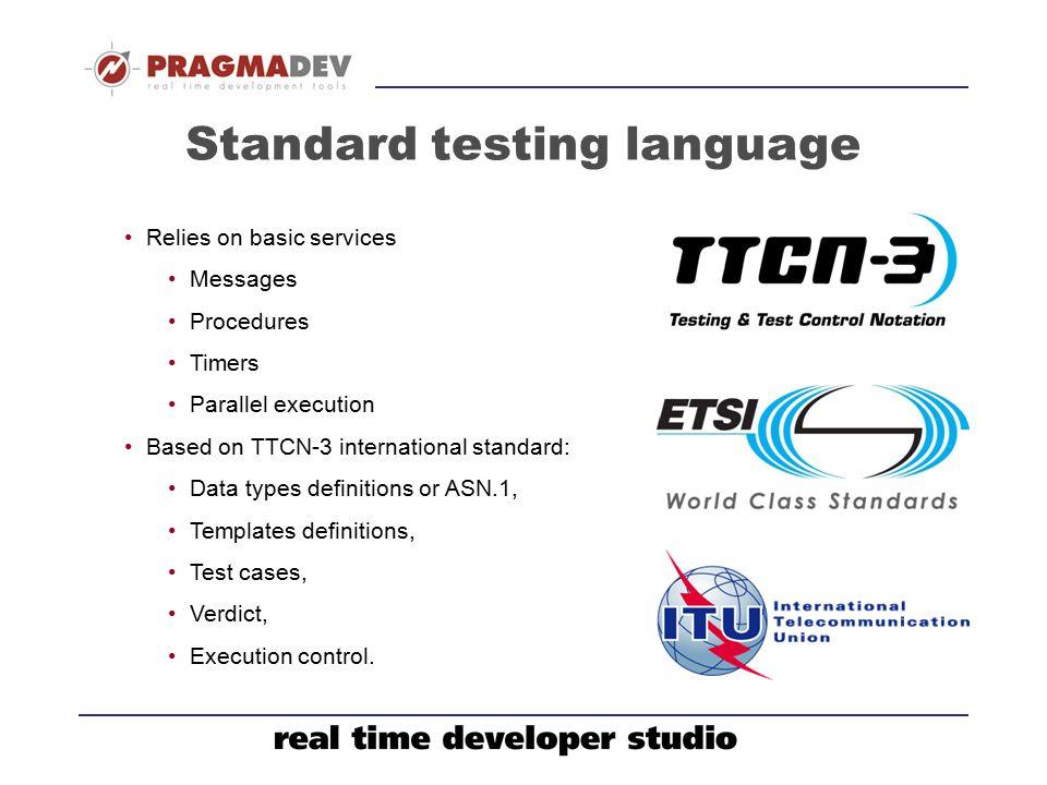 Standard testing language