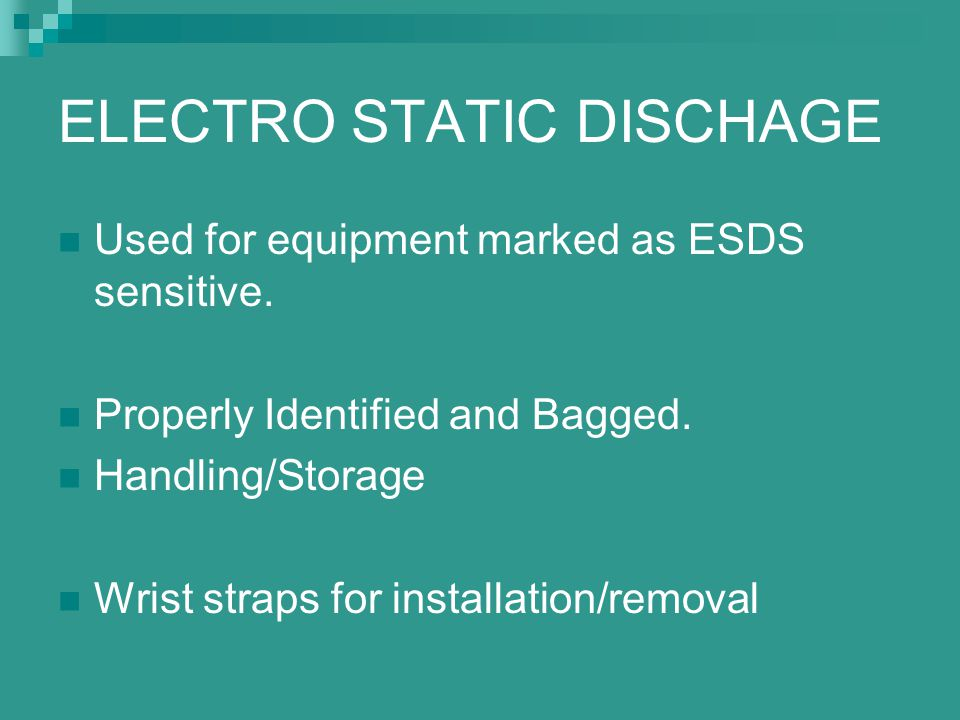 ELECTRO STATIC DISCHAGE