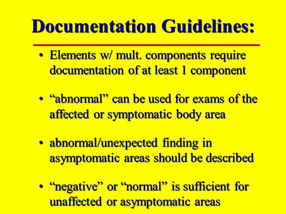 Documentation Guidelines: