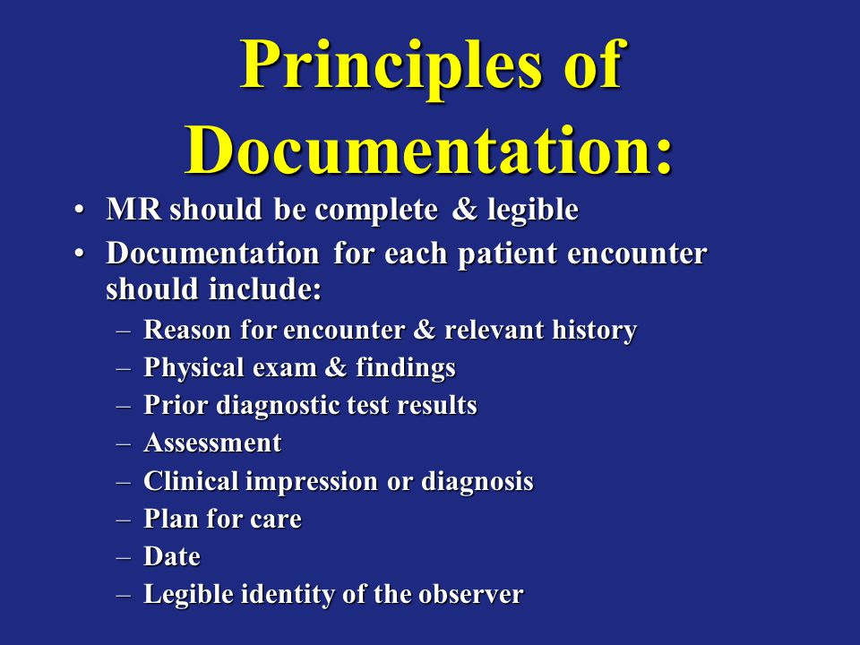 Principles of Documentation: