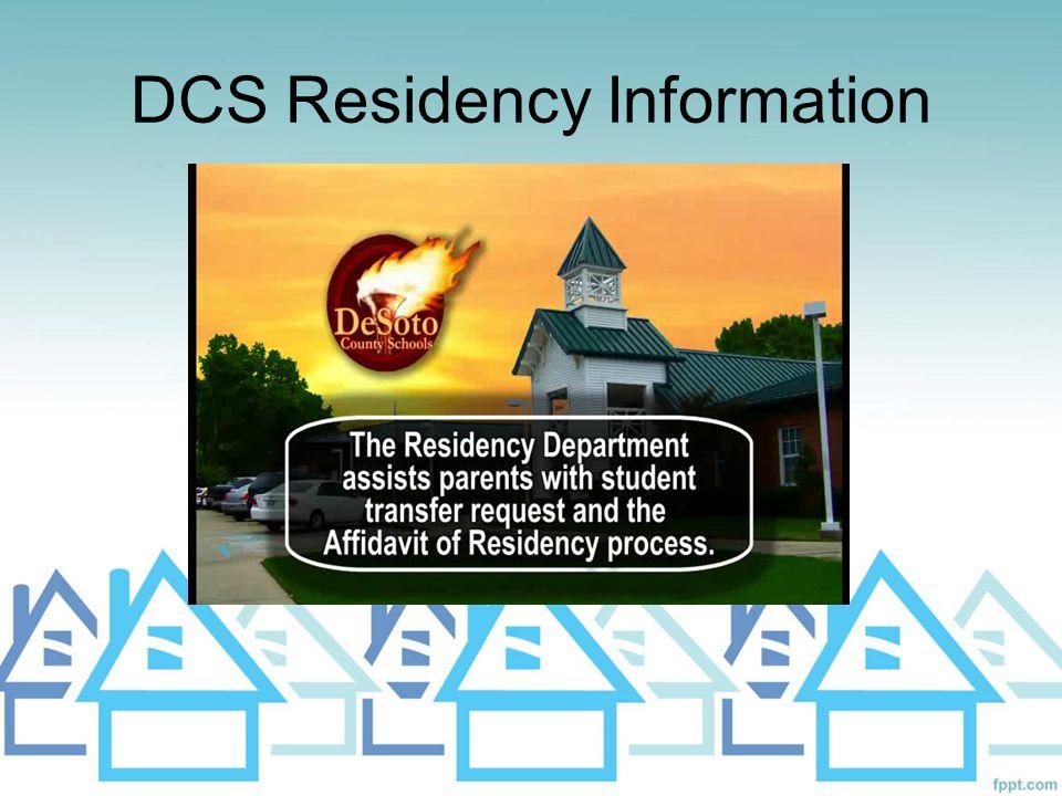 DCS Residency Information
