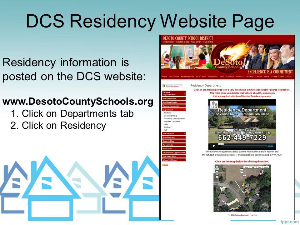 DCS Residency Website Page