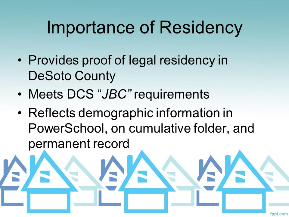 Importance of Residency
