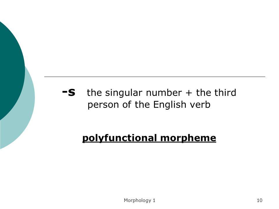 polyfunctional morpheme