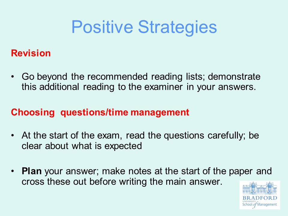 Positive Strategies Revision