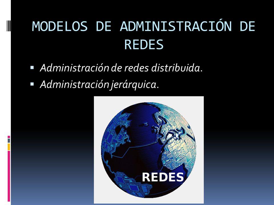 MODELOS DE ADMINISTRACIÓN DE REDES