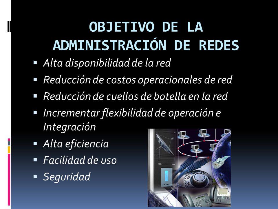 OBJETIVO DE LA ADMINISTRACIÓN DE REDES