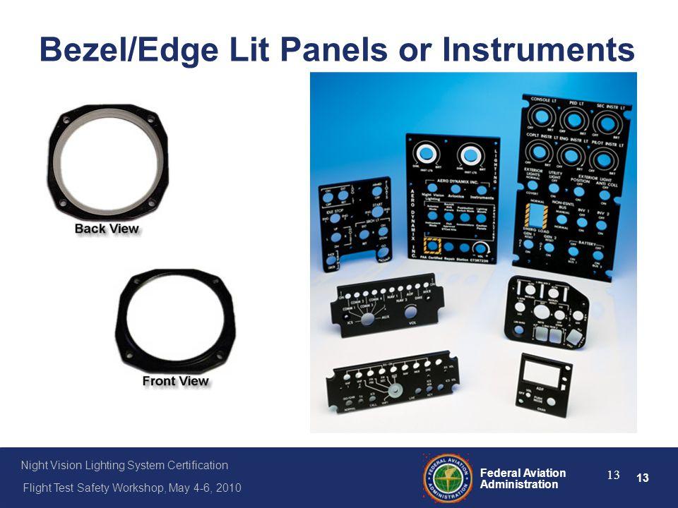 Bezel/Edge Lit Panels or Instruments