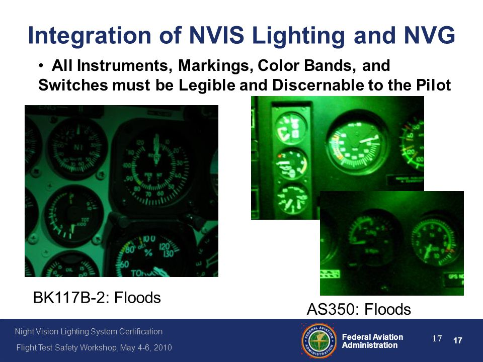 Integration of NVIS Lighting and NVG