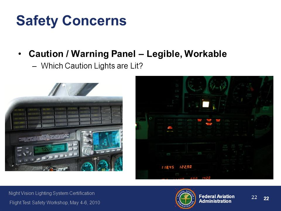 Safety Concerns Caution / Warning Panel – Legible, Workable