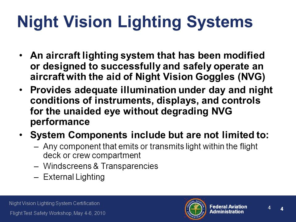 Night Vision Lighting Systems