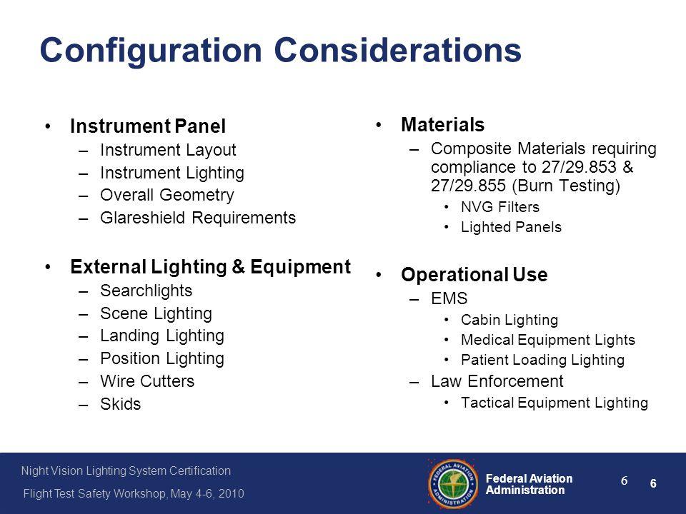 Configuration Considerations