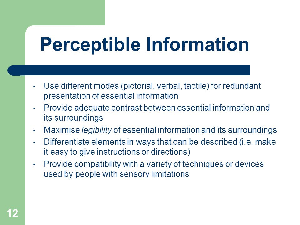 Perceptible Information