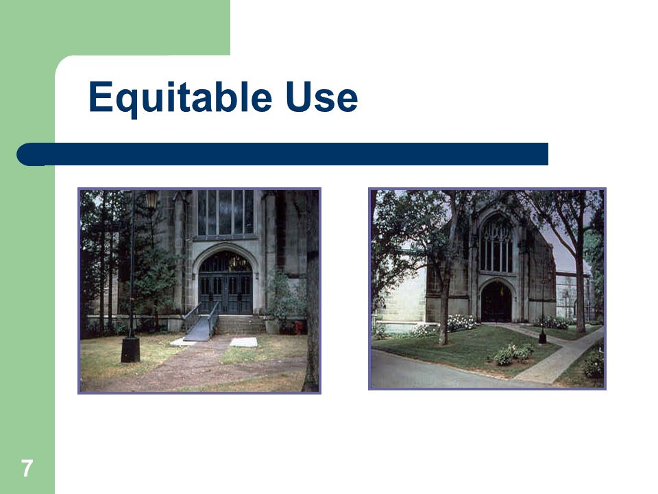 Equitable Use 7
