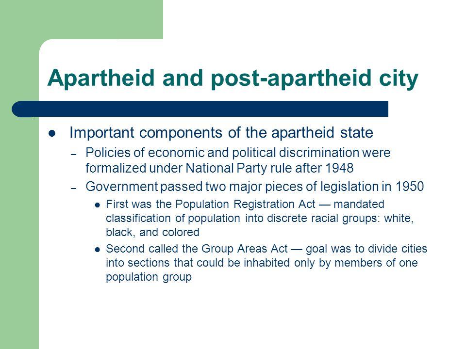 Apartheid and post-apartheid city