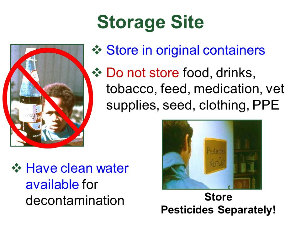 Store Pesticides Separately!