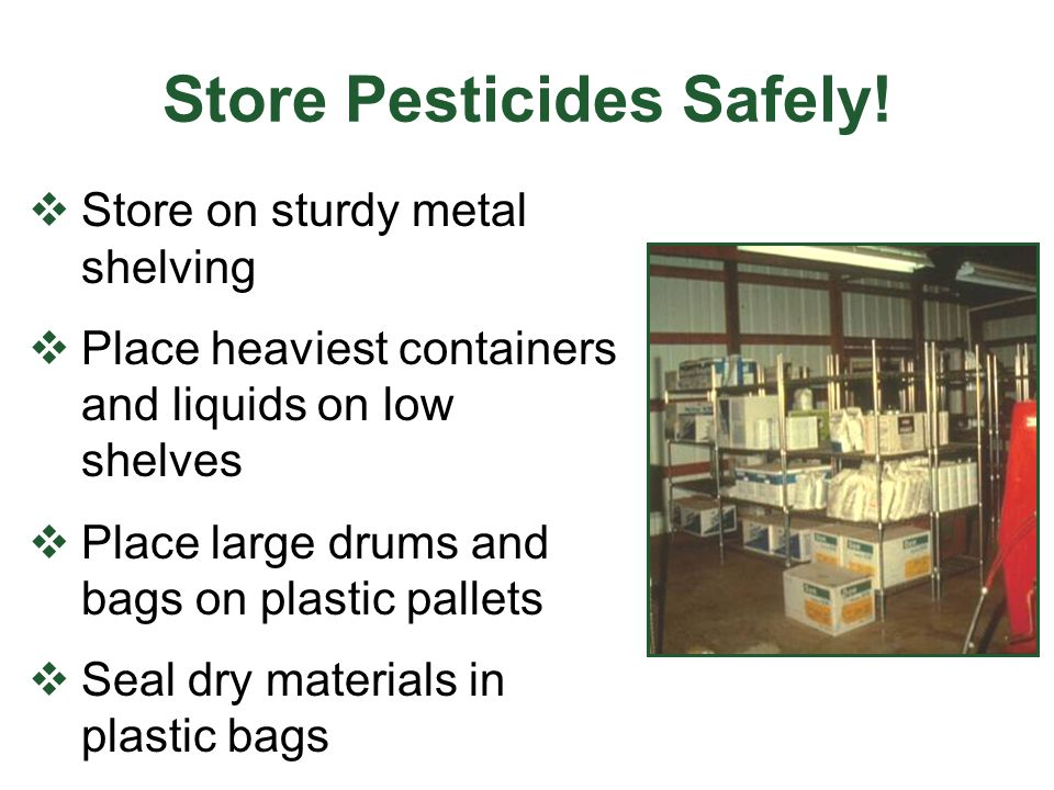 Store Pesticides Safely!