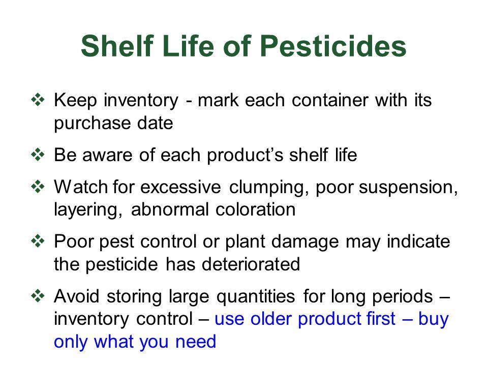 Shelf Life of Pesticides