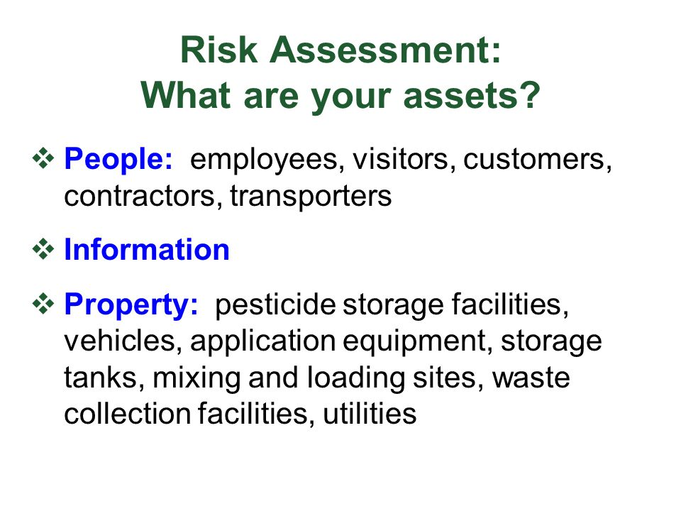 Risk Assessment: What are your assets