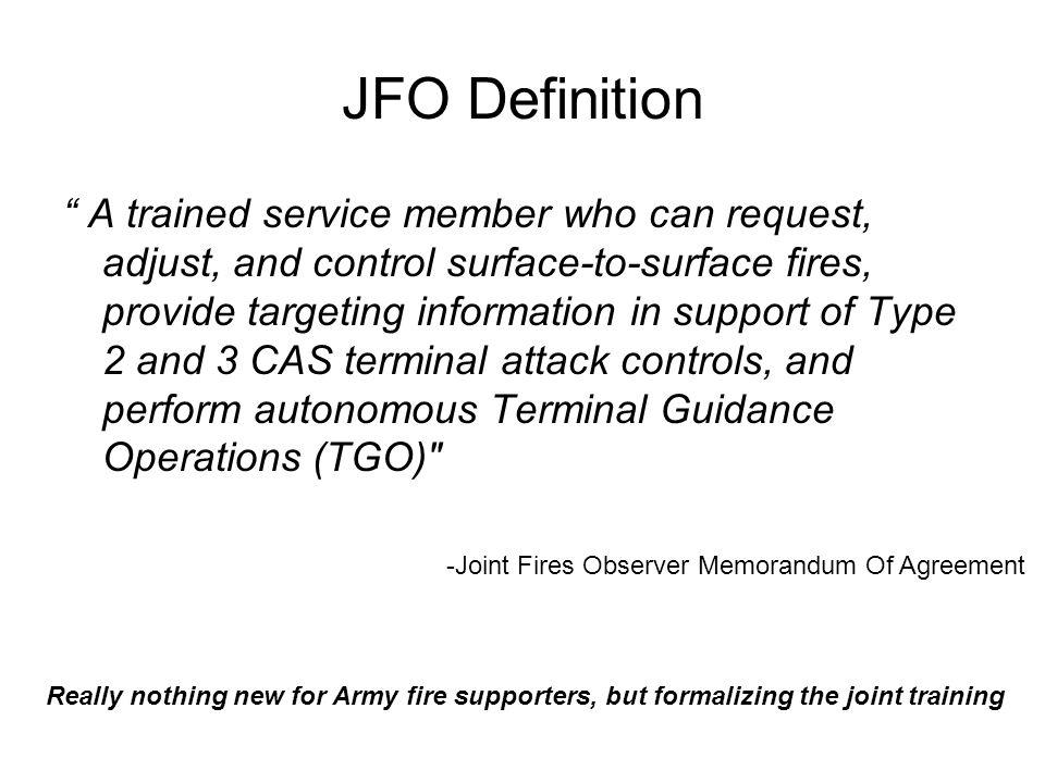 JFO Definition