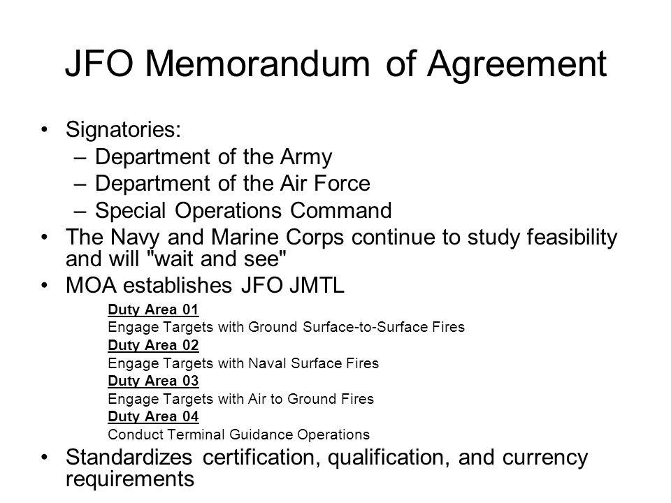 JFO Memorandum of Agreement