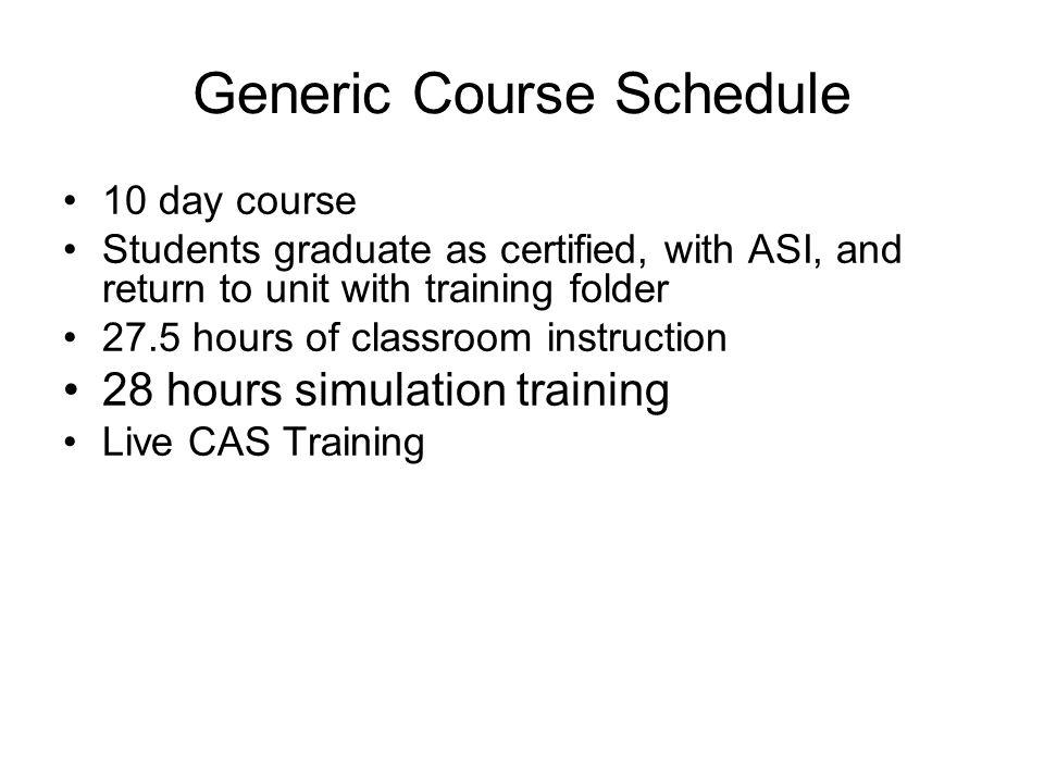 Generic Course Schedule