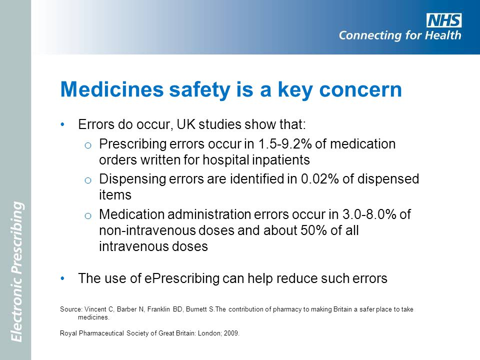 Medicines safety is a key concern