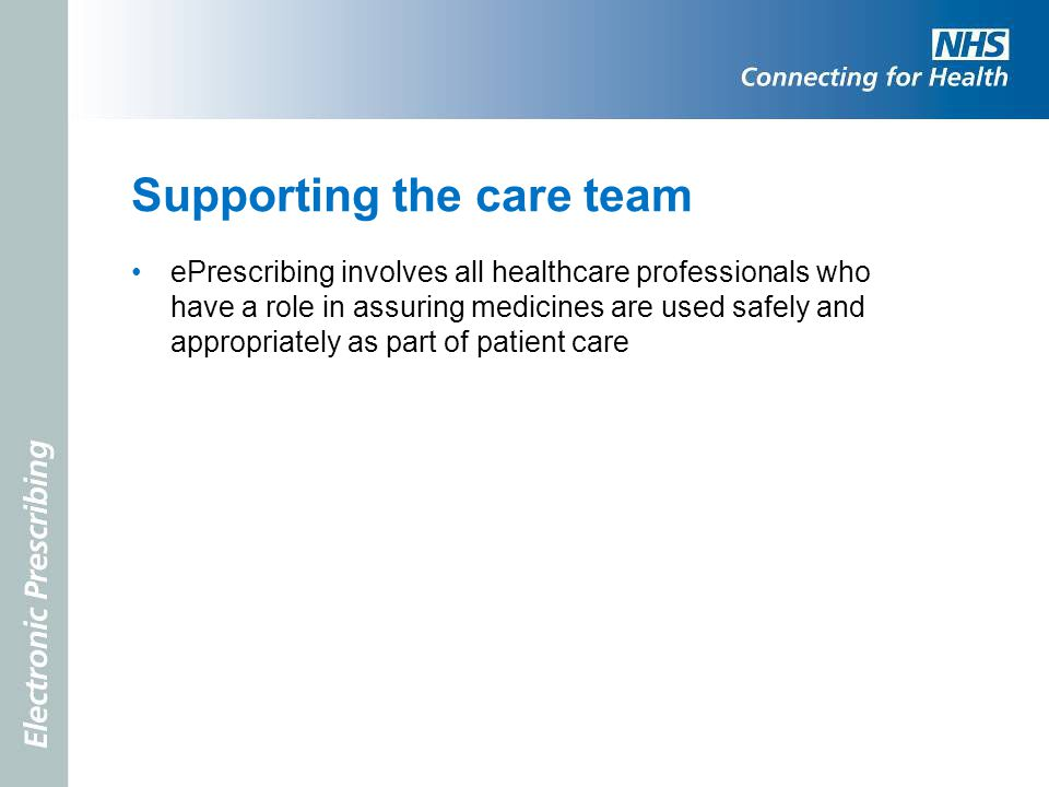 Supporting the care team