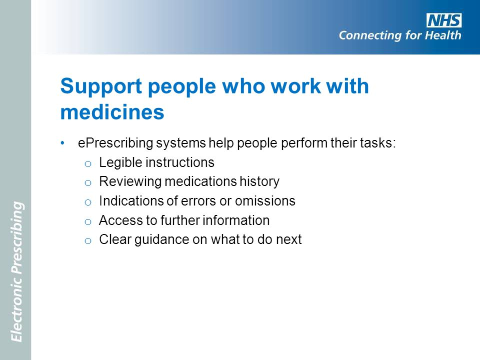 Support people who work with medicines