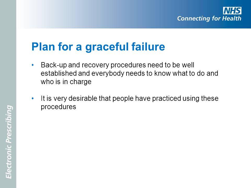 Plan for a graceful failure