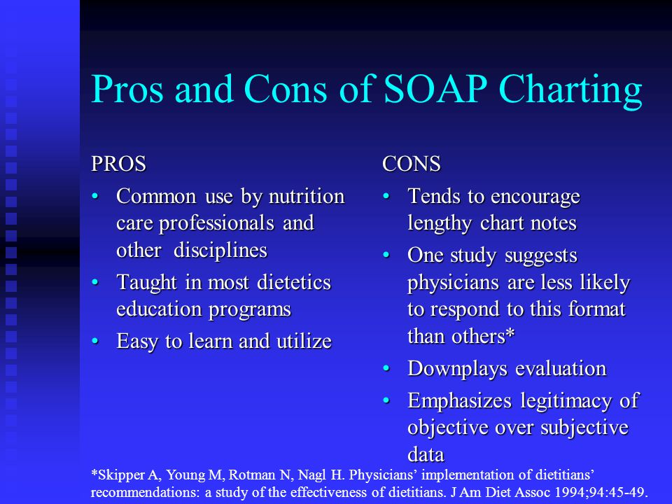 Pros and Cons of SOAP Charting