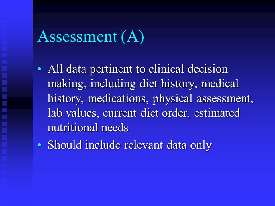 Assessment (A)