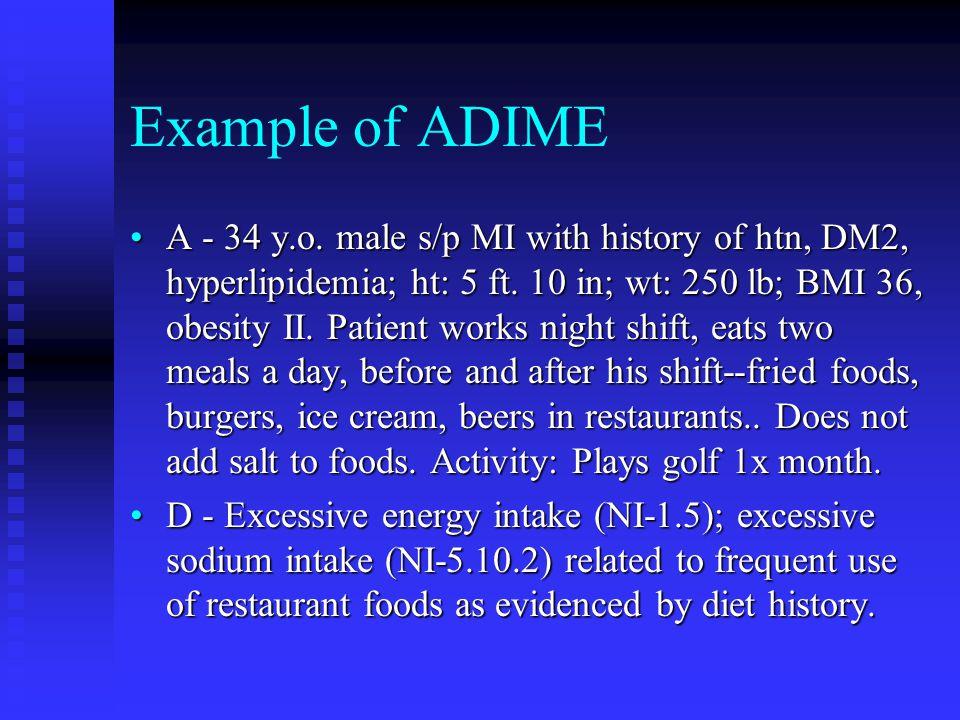 Example of ADIME
