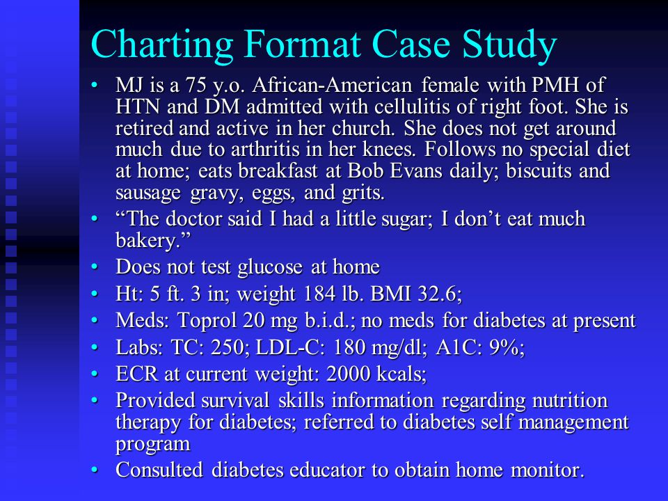 Charting Format Case Study