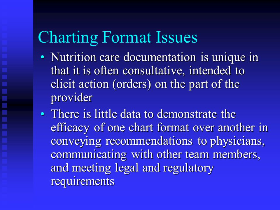Charting Format Issues