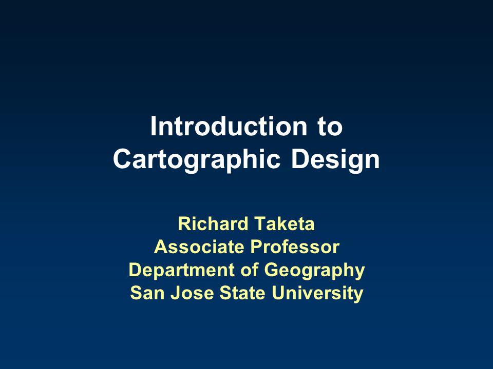 Introduction to Cartographic Design